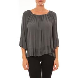 Vêtements Femme Tops / Blouses Carla Conti Blouse Giulia anthracite Gris