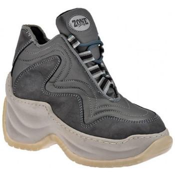 Chaussures Femme Baskets montantes Zone 14508 Plate-forme Slim Talon compensé Gris