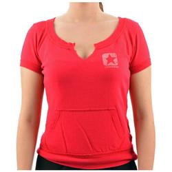 Vêtements Femme T-shirts manches courtes Converse CortaT-shirt Rose