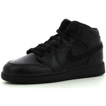 Chaussures Enfant Baskets montantes Nike 1 Mid BG Black / Black