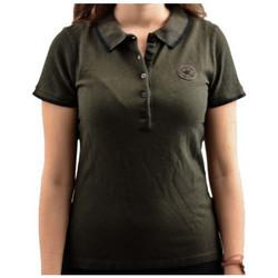 Vêtements Femme Polos manches courtes Converse ShortPolo Noir