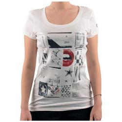 Vêtements Femme T-shirts manches courtes Converse PaillettesT-shirt Blanc
