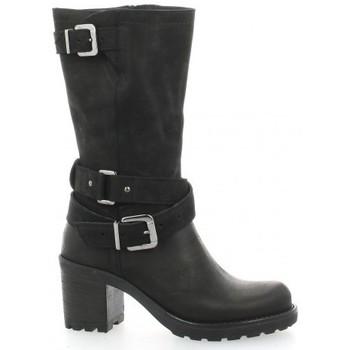 Chaussures Femme Bottines Pao Mi-bottes cuir nubuck Noir