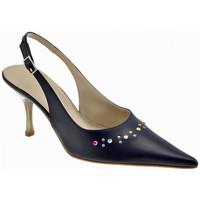 Chaussures Femme Sabots Onde Piane 80 Punta talon strass Fashion Show Sabot