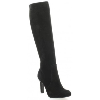 Chaussures Femme Bottes ville Donna Più Bottes cuir velours Noir