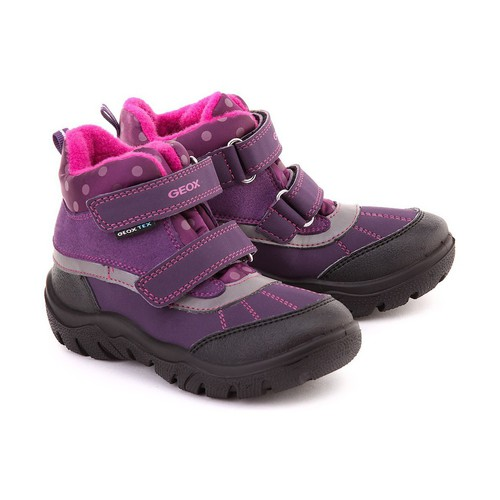 Chaussures Fille Boots Geox Junior Frosty Violet