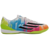Chaussures Homme Football adidas Originals F10 IN Messi Blanc-Vert-Bleu