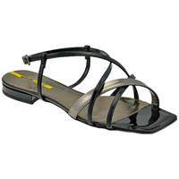 Chaussures Femme Sandales et Nu-pieds Lea Foscati Bracelet tressé Sandales Noir