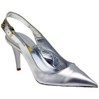 Chaussures Femme Escarpins Lea Foscati Punta T.80 Talons-Hauts Argenté