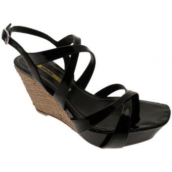 Chaussures Femme Sandales et Nu-pieds Lea Foscati Wedge110Sandales Noir