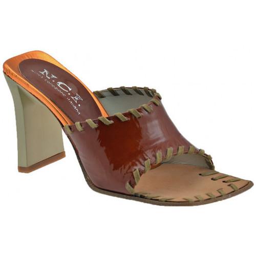 Chaussures Femme Mules Nci Gamme Talon 85 Mules Marron