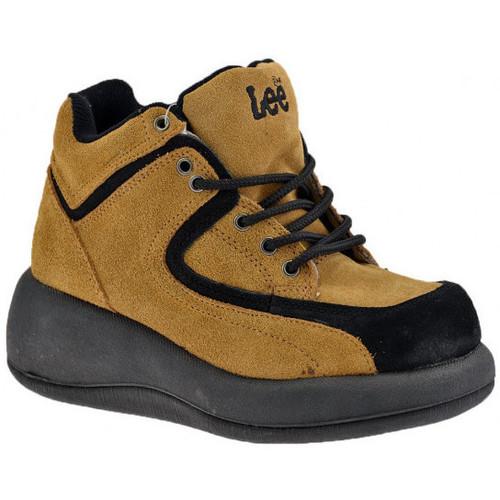 Chaussures Femme Baskets montantes Lee Plate-forme à lacets Talon compensé
