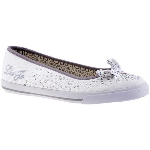 Chaussures Femme Ballerines / babies Liu Jo Bow strass Ballerines blanc