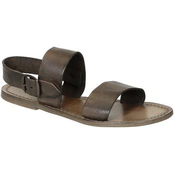 Chaussures Femme Sandales et Nu-pieds Gianluca - L'artigiano Del Cuoio 500 D FANGO CUOIO Fango