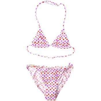 Vêtements Fille Maillots de bain 2 pièces Princesse Ilou Maillot de bain fille 2 pièces à pois rose et doré Rose