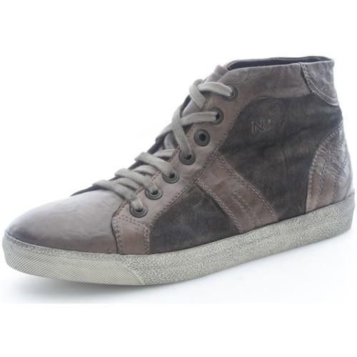 Nicolabenson 7480A Basket Homme Taupe Taupe - Chaussures Basket montante Homme