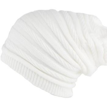 Bonnets Nyls Création Bonnet Rasta Long Blanc Jack