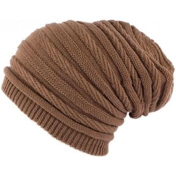 Bonnets Nyls Création Bonnet Rasta Oversize Marron Clair Jack Nyls Creation