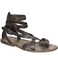 Chaussures Femme Sandales et Nu-pieds Gianluca - L'artigiano Del Cuoio 564 U FANGO CUOIO Fango