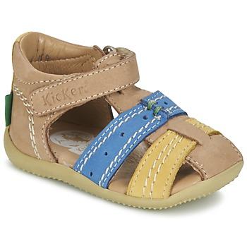 Sandale Kickers BIGBAZAR Beige / Bleu / Jaune 350x350
