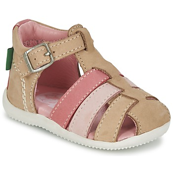 Chaussures Fille Sandales et Nu-pieds Kickers BIGFLY Beige / Rose