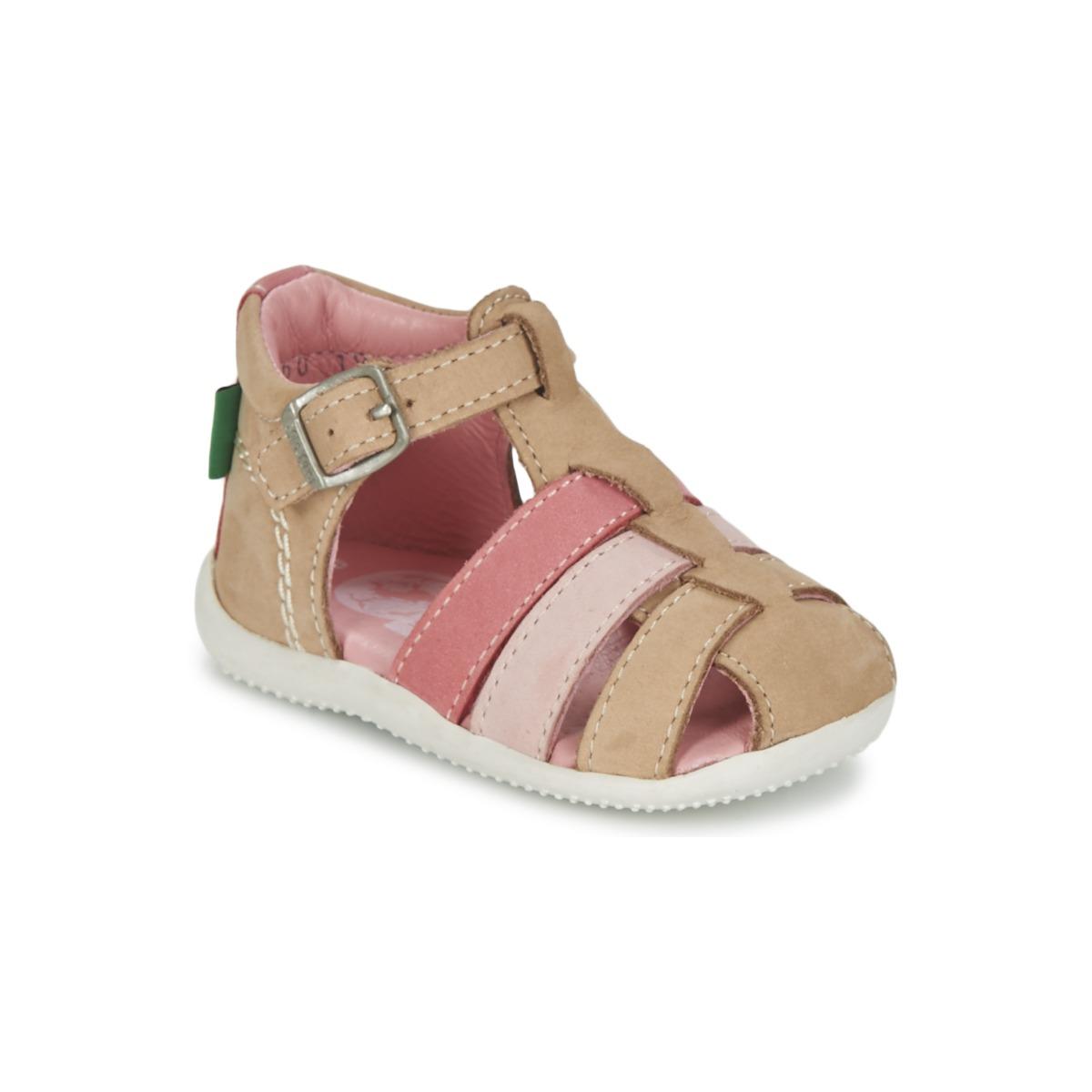 Sandale Kickers BIGFLY Beige / Rose