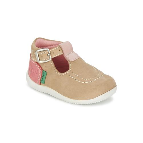 Chaussures Fille Ballerines / babies Kickers BONBEK Beige