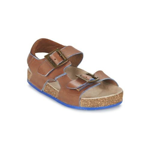 Chaussures Garçon Sandales et Nu-pieds Kickers NANTI Marron