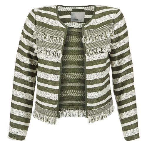 Vêtements Femme Vestes / Blazers Vero Moda FRILL Kaki / Ecru