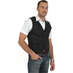 Vêtements Homme Gilets / Cardigans Pallas Cuir Gilet en cuir vachette skipper ref_pal01642 marron marron