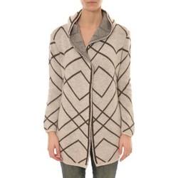 Vêtements Femme Gilets / Cardigans De Fil En Aiguille GILET CAPUCHE ZINKA  2135 BEIGE Vert