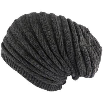 Bonnets Nyls Création Bonnet Rasta Long Gris Jack Nyls Creation