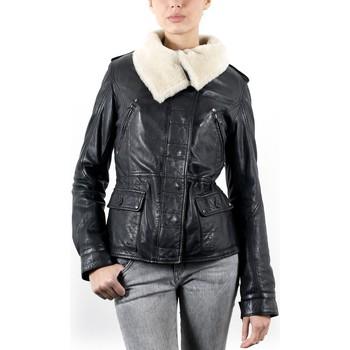 Vêtements Femme Vestes en cuir / synthétiques Giorgio Angie Noir Noir