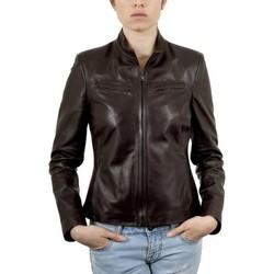 Vêtements Femme Vestes en cuir / synthétiques Giorgio Any Waxy Marron Marron