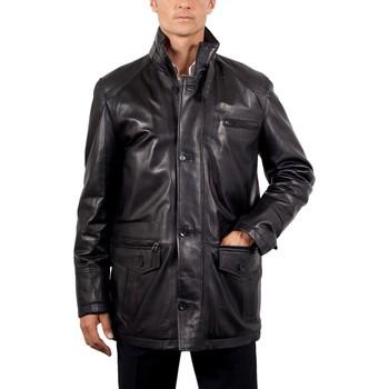 Vêtements Homme Vestes en cuir / synthétiques Giorgio Bolt Noir Noir