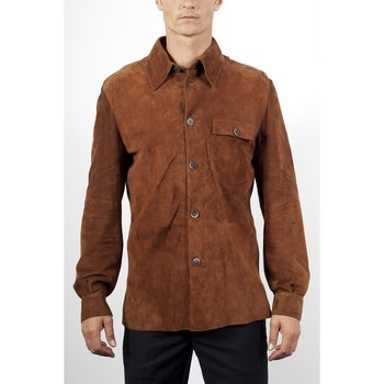 Vêtements Homme Vestes en cuir / synthétiques Giorgio Joseph Tabac Tabac