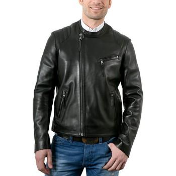 Vêtements Homme Vestes en cuir / synthétiques Giorgio Mario Waxy Noir Noir