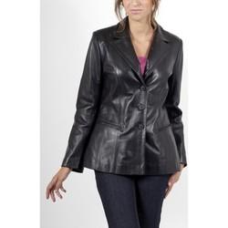 Vêtements Femme Vestes en cuir / synthétiques Giorgio Meredith Noir Noir