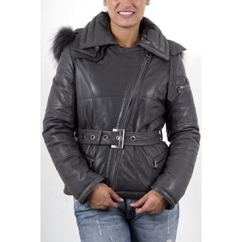 Vestes en cuir / synthétiques Giorgio Mikaela Gris