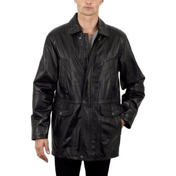 Vêtements Homme Vestes en cuir / synthétiques Milpau Georges Noir Noir