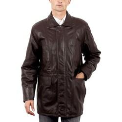 Vêtements Homme Vestes en cuir / synthétiques Milpau Georges Marron Marron