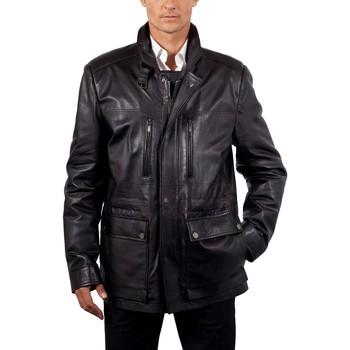 Vêtements Homme Vestes en cuir / synthétiques Milpau Jacques Noir Noir