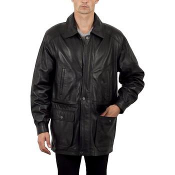 Vêtements Homme Vestes en cuir / synthétiques Milpau Jean-Michel Noir Noir