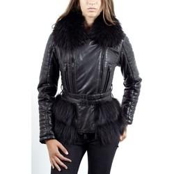 Vêtements Femme Vestes en cuir / synthétiques Giorgio Erminia Noir Noir