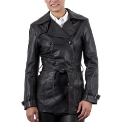 Vêtements Femme Vestes en cuir / synthétiques Giorgio Ella Agneau Noir Noir