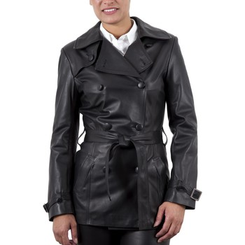 Vêtements Femme Vestes en cuir / synthétiques Giorgio Ella WAXY Noir Noir