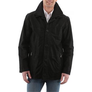 Vêtements Homme Vestes en cuir / synthétiques Arturo Erwann Noir Noir