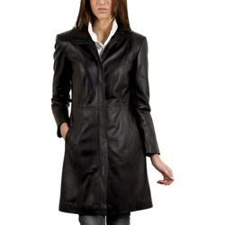 Vêtements Femme Vestes en cuir / synthétiques Giorgio Arone Noir Noir