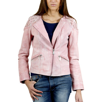 Vestes en cuir / synthétiques Giorgio Berenice Crust Rose