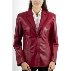Vêtements Femme Vestes en cuir / synthétiques Giorgio Sandrine Rouge Rouge